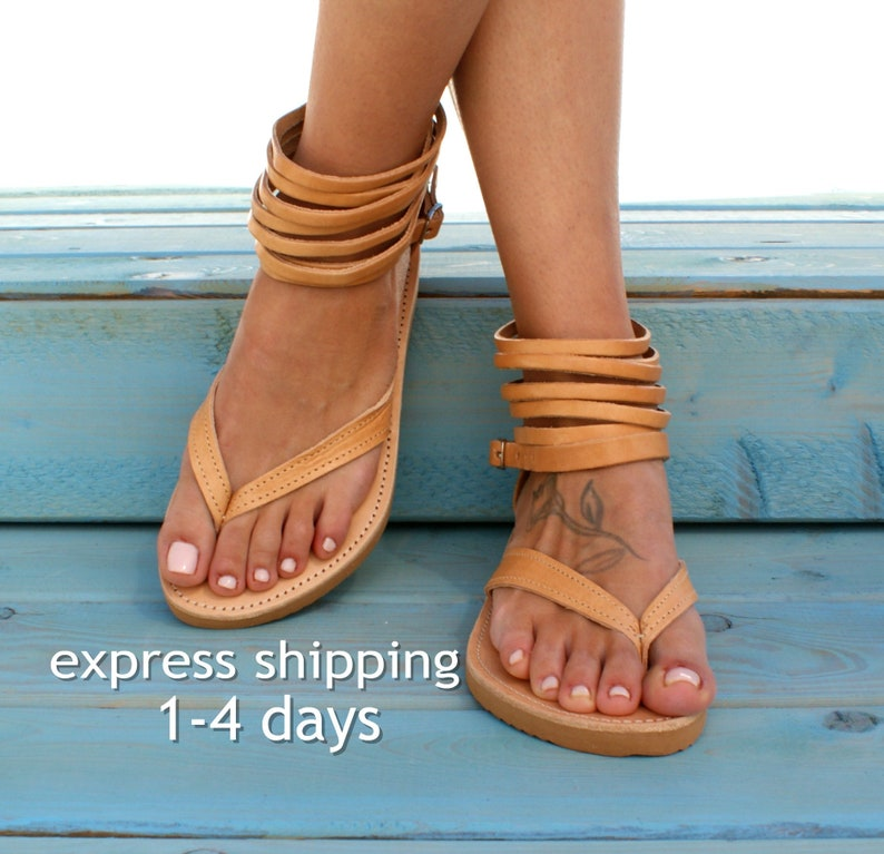 bffb00702 MARGARITA sandals  Greek leather sandals  ankle cuff sandals