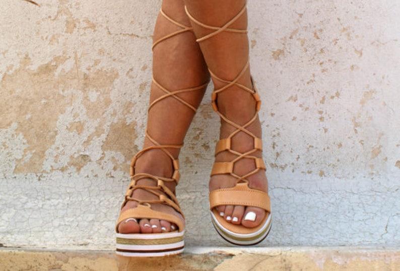TROY leather gladiator sandals ancient Greek sandals lace up sandals spartan sandals handmade natural leather sandal strappy sandal