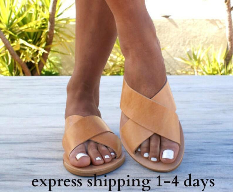cff38bcbb4b3f ERIS sandals/ ancient Grecian leather sandals/ slide sandals/ classic  leather sandals/ handmade sandals/ summer sandals/ criss cross sandals
