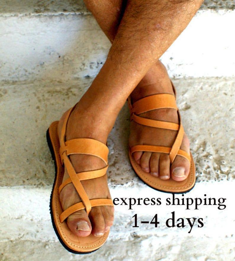 4645c4087d063 PHIDIAS mens leather sandals/ mens Greek leather sandals/ mens leather  slides/ mens ancient grecian sandals/ mens leather roman sandals