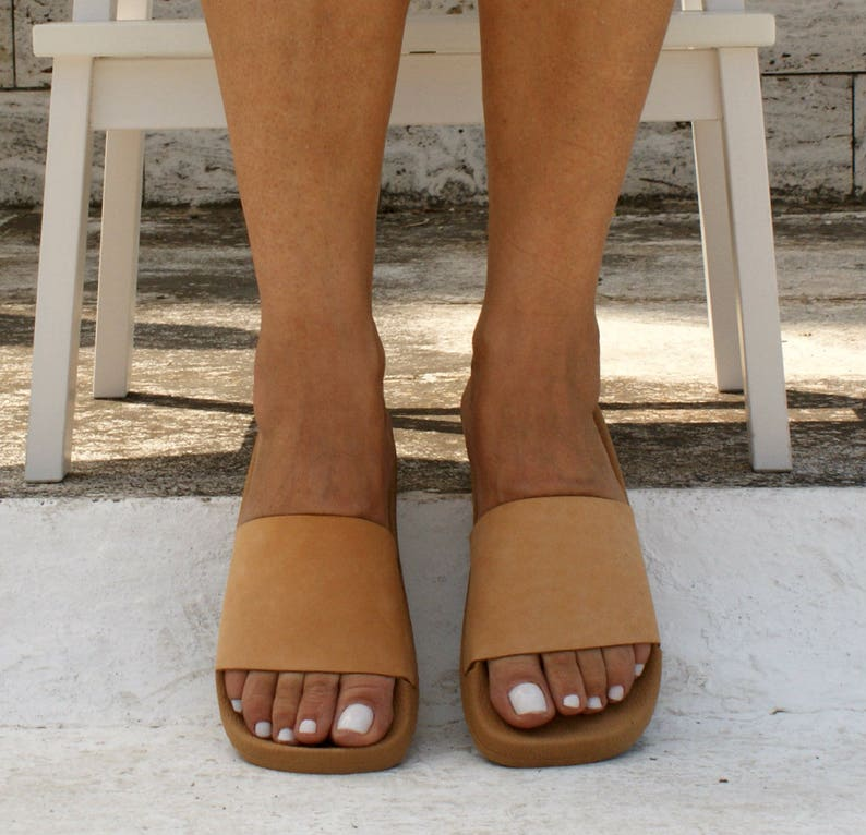 4d39f934ec9fe HESTIA sandals/ ancient Greek leather sandals/ slide sandals/ classic  leather sandals/ handmade sandals/ summer sandal/ minimalistic sandal