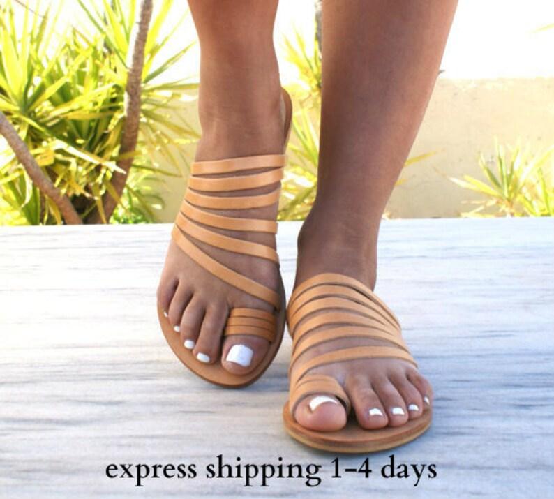79f42670926a7 IOKASTI sandals/ ancient Greek leather sandals/ strappy sandals/ roman  sandals/ toe ring sandals/ classic leather sandals/ handmade sandals