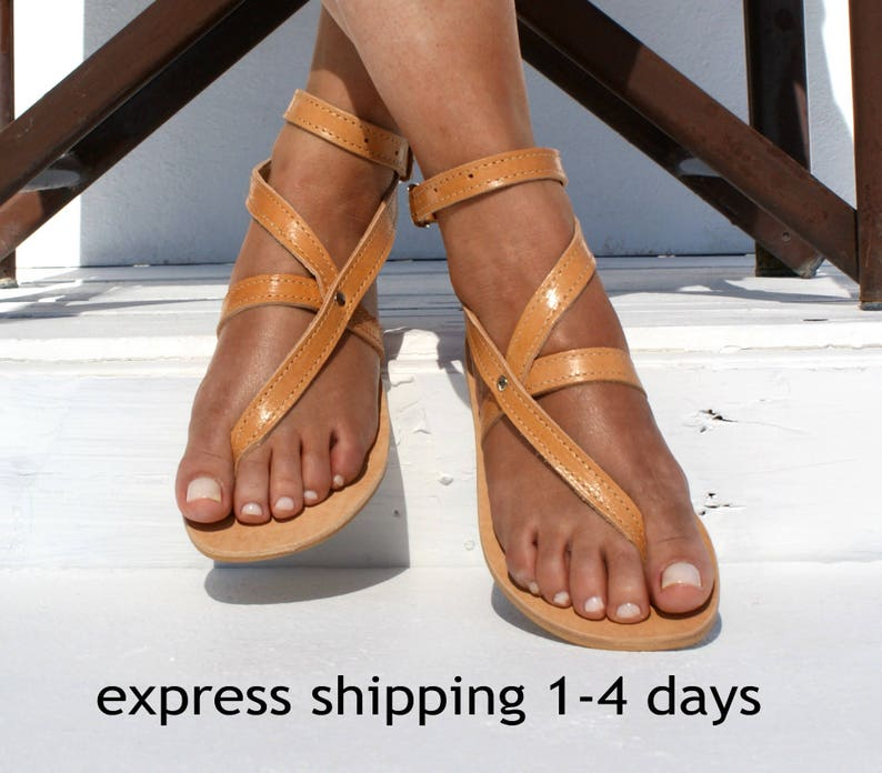 6d00c4f83 ANTIGONE sandals  Greek leather sandals  ankle cuff sandals