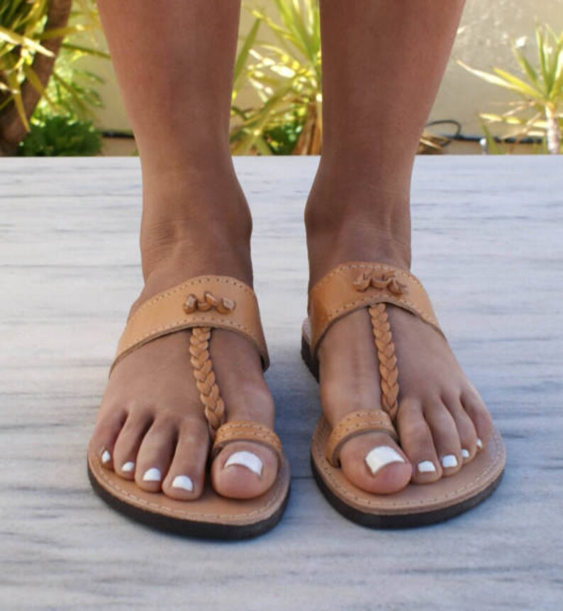 ELECTRA sandals ancient Greek leather sandals ancient grecian sandals toe ring sandals classic leather sandals handmade sandals