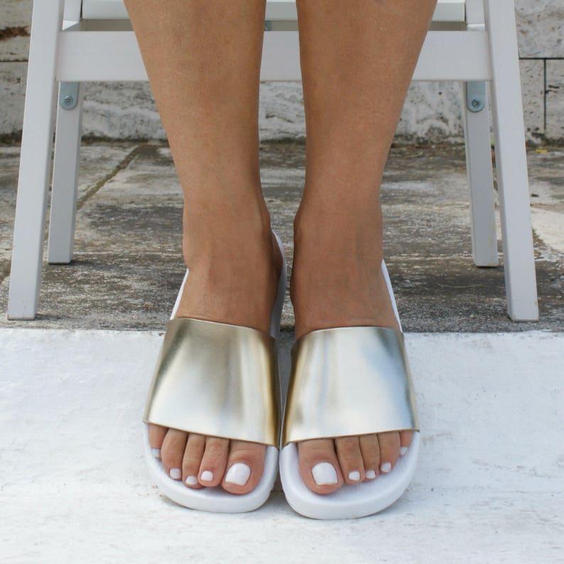 5acd36cfa5f63 HESTIA 3 sandals/ ancient Greek leather sandals/ slide sandals/ classic  leather slides/ handmade sandals/ gold sandal/ minimalistic sandal
