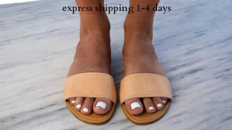 fad45fddbaded DIONE sandals/ ancient Greek leather sandals/ slide sandals/ classic  leather sandals/ handmade sandals/ summer sandals/ minimalist sandals