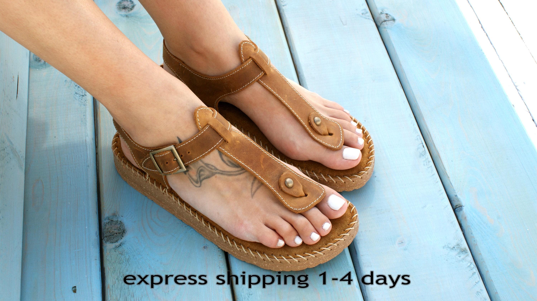 ed9cc680d634c9 ATLANTA 2 Greek leather women s sandals  brown leather