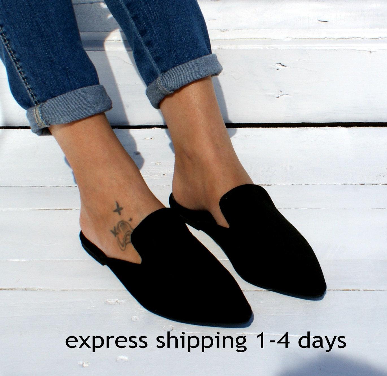 COCO Greek handmade women leather sandals/ Greek COCO suede sandals/ Black slides/ Women suede flats/ Black suede slippers/ Black shoes/ Black mules 476f41