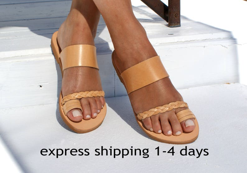 20cf05be399 ANDROMEDA  Women leather sandals  ancient Greek leather