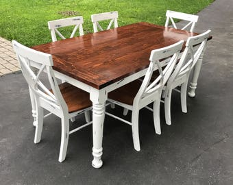 Distressed Custom Farmhouse Table