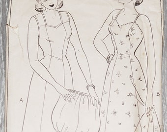 Style 4469,1940's Sewing Pattern,LadiesSlip & Knicker. Panelled Slip / Under skirt and Knickers,Vintage women clothes, knitted pattern,