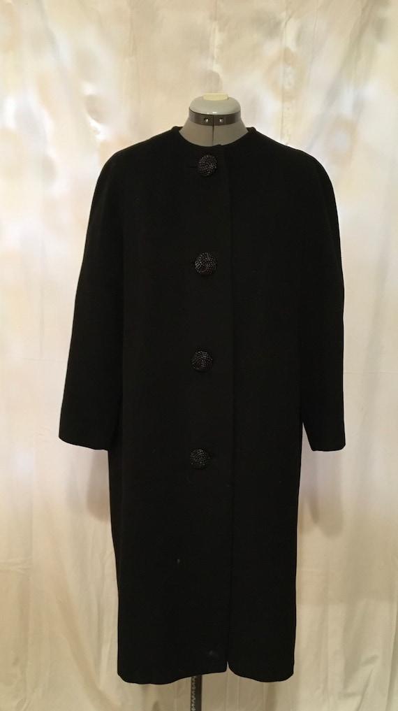 100% Cashmere black swing coat