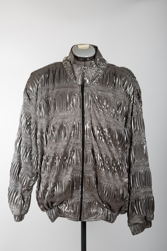 Tibs Silver Bomber Jacket
