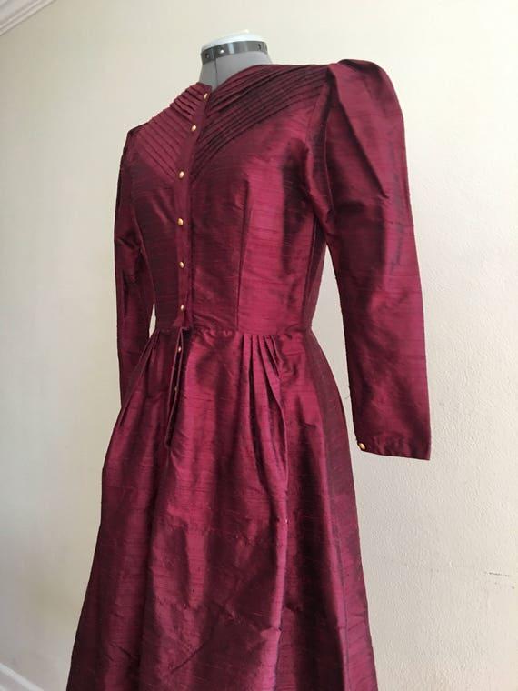 1980 Raw silk dress - image 2