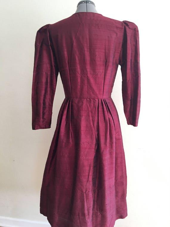 1980 Raw silk dress - image 4