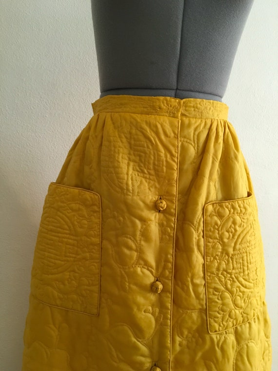 Asian style quilted maxi skirt - image 2