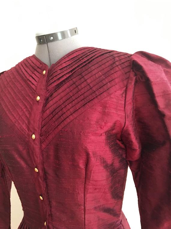 1980 Raw silk dress - image 3