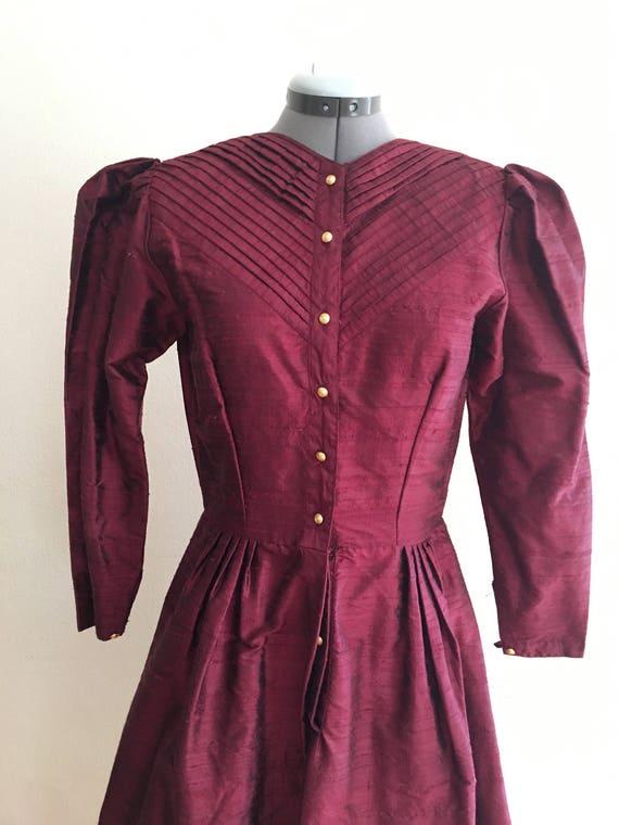 1980 Raw silk dress - image 5