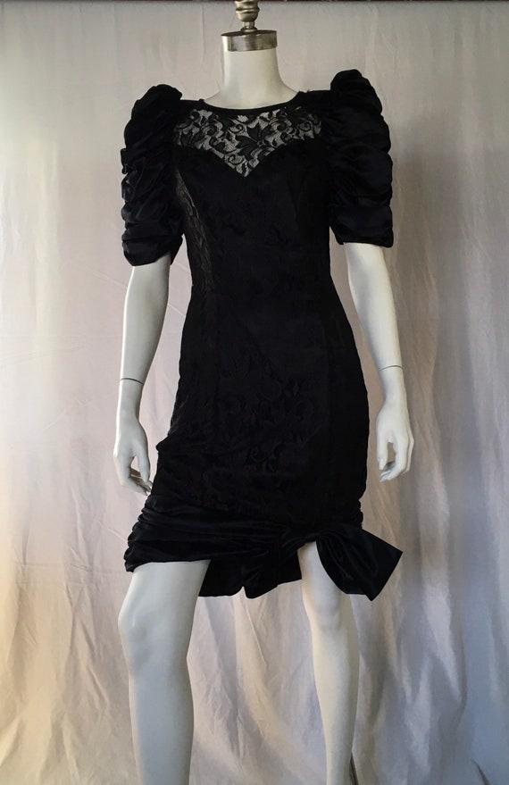 1980s little black cocktail dress