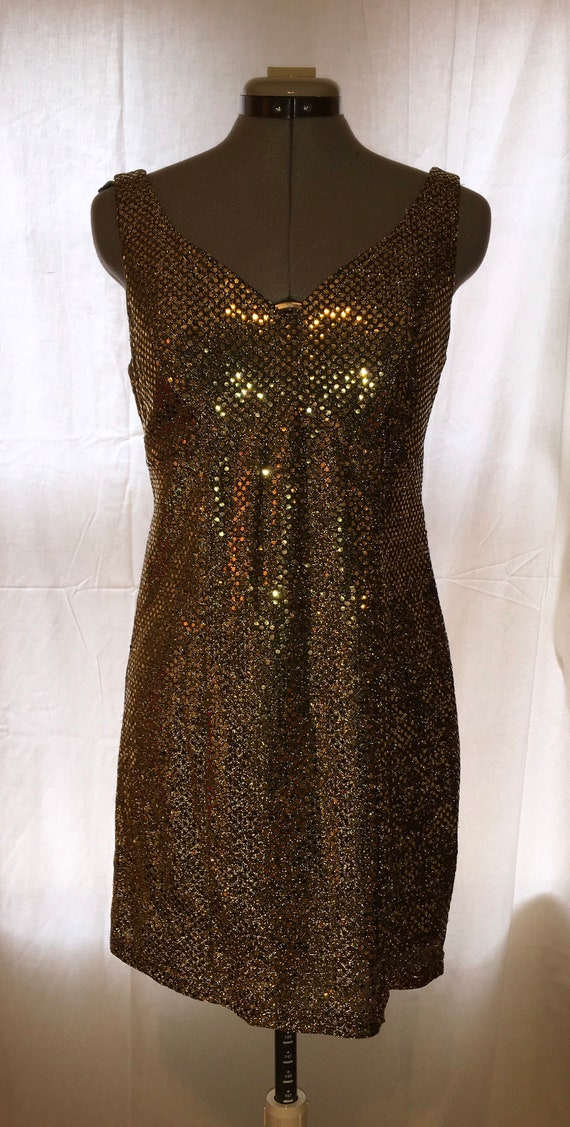 Mod gold mini dress
