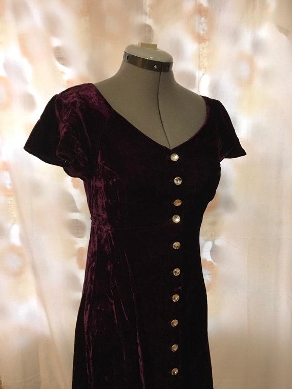 Betsey Johnson crushed velvet maxi dress