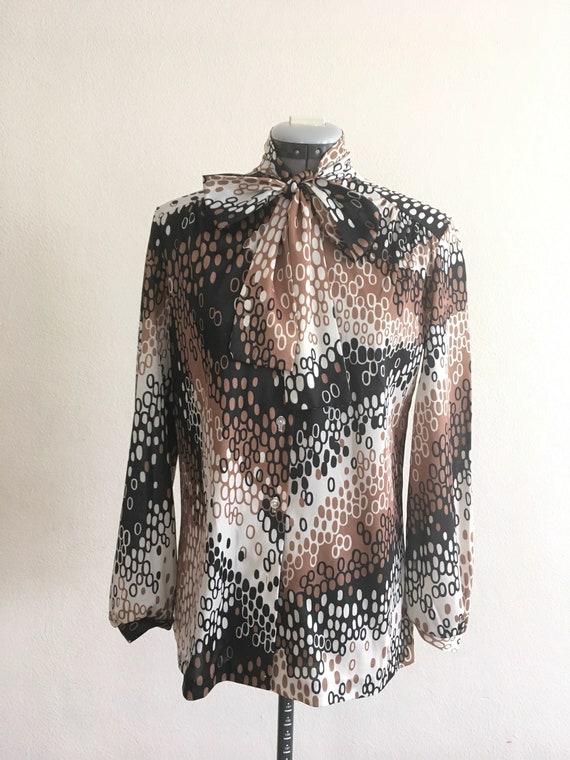 1970 sexy secretary blouse