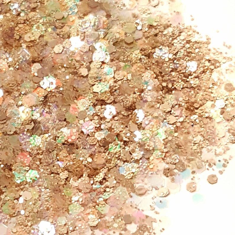 Glitter Mix Champagne Nail Art Glitter Loose image 0