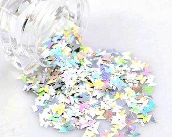 Holographic Butterfly Glitter/ Nail Art Glitter / Loose Glitter / Chunky Glitter / Nail Glitter