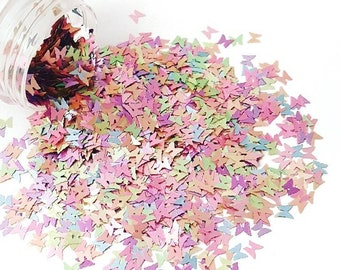 Colorful Pearlescent Butterfly Glitter/ Nail Art Glitter / Loose Glitter / Chunky Glitter / Nail Glitter