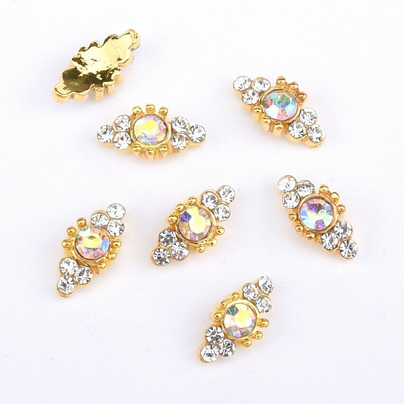 4pc AB Round Crystal  Nail Charms   Nail Jewelry Nail image 0