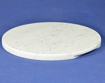 Round Top in Carrara white marble Ø 30 cm