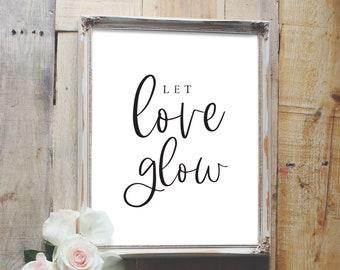 let love glow sign, wedding favor sign, glow stick sign, wedding sign, reception sign style02 / SKU: LNWS19B