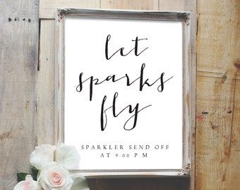sparkler send off sign, sparkler send off, sparkler sign, wedding sign, reception sign style01 / SKU: LNWS22