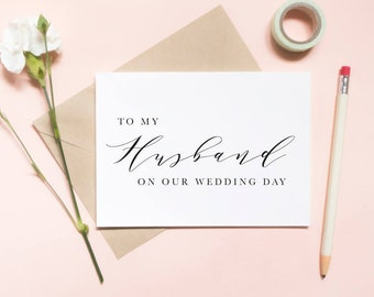 To my husband on our wedding day card, To my hubby on our wedding day card, to my hubby card, wedding day card / SKU: LNWD01