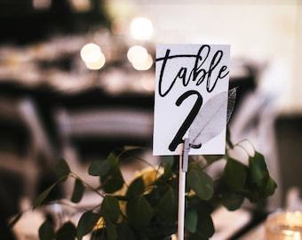 Wedding Table Numbers, Reception Cards, Table Numbers, Wedding, Table Numbers, / SKU: LNWS03