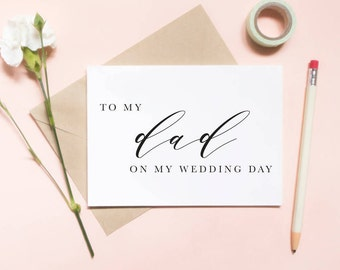 To my dad on my wedding day card, to my dad card, to my father card, wedding day card / SKU: LNWD04