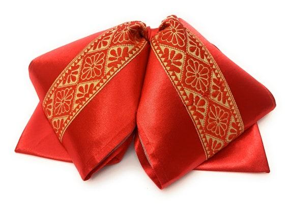 Brown And Gold Mariachi Bow Tie Mo/ño Charro Bordado