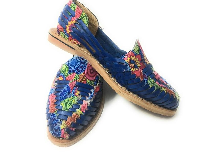 4f37f9f262aaf Closed Toe Blue Huarache Sandals. Womens Leather Sandals