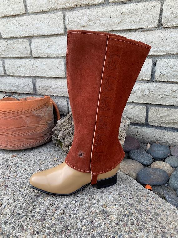 Bota piel cow bordada Disponible en 35 y 42 Calzado