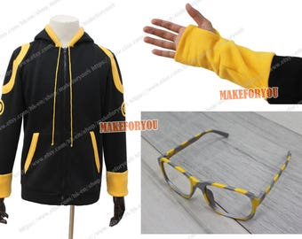 Unisex's Mystic Messenger 707 Luciel Choi Saeyoung Cosplay Costume hoodie with glasses