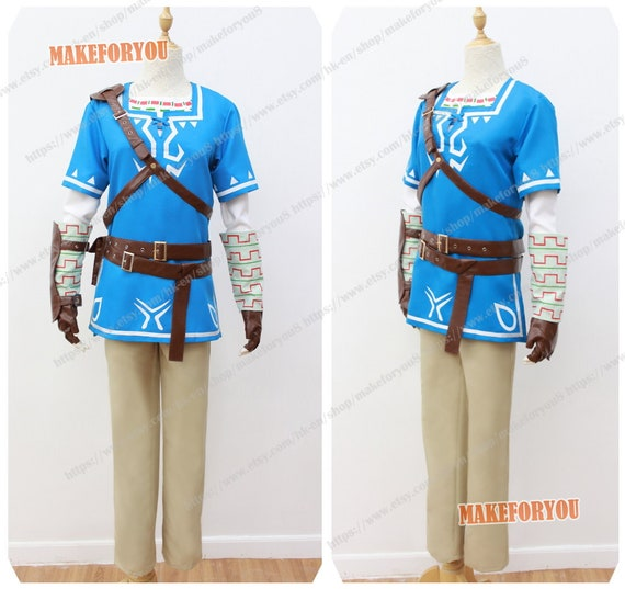 Unisex S Legend Of Zelda Breath Of The Wild Link Cosplay Costume
