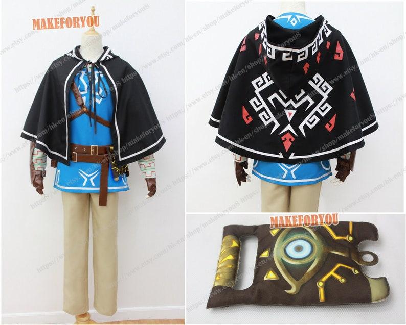 Unisex/'s Legend of Zelda Breath of the Wild Link Cosplay Costume With Cap Ver.2