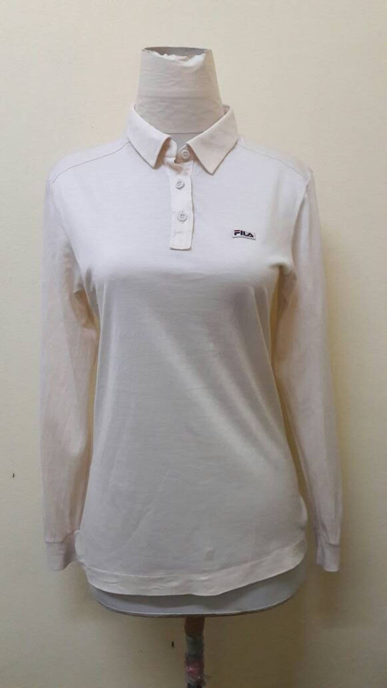 25421d34 90's vintage FILA MAGLIFICIO BIELLESE women polo shirt