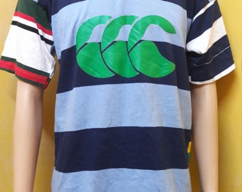 vintage CANTERBURY of NEW ZEALAND big logo rugby polo shirt