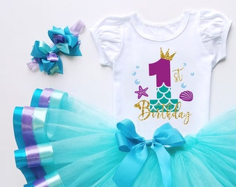 1st Birthday tutu set baby girl first Cale smash blue tulle daughter gift idea personalized age print  one year old girls dress