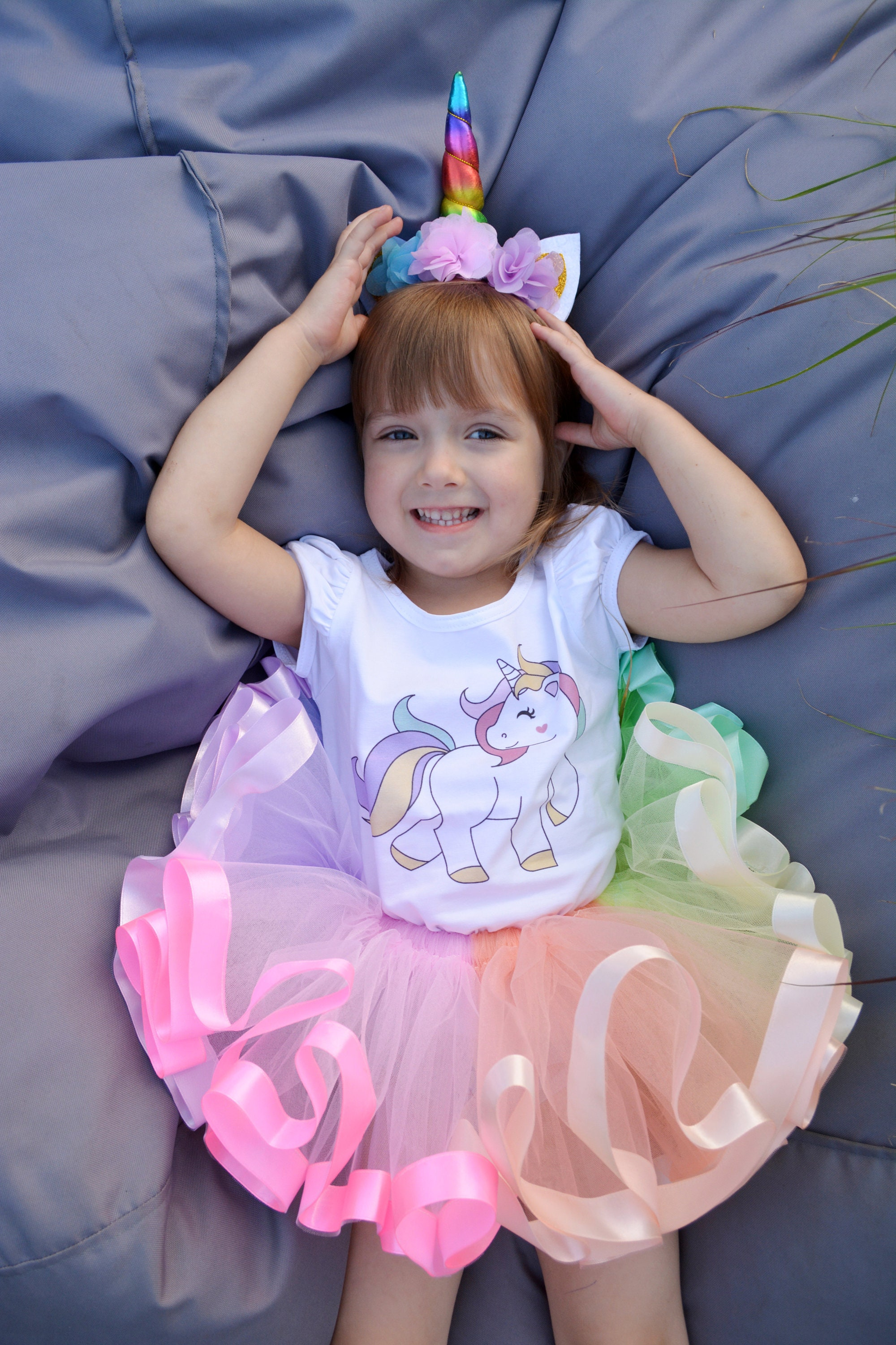 Unicorn Birthday Tutu Outfit Rainbow