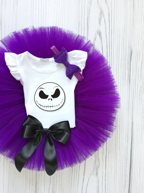 "NEW /""Jack Skellington/"" Personaliz​ed T-Shirt and Black Pink Ribbon Tutu Set"