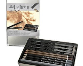 Life Drawing Art Kit W/Tin