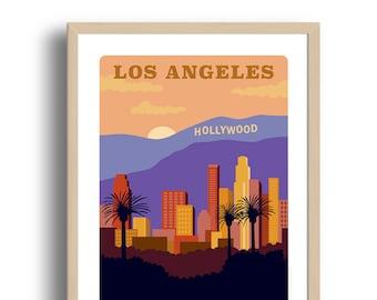 Los Angeles City Art Print - Home Decor - Los Angeles city art - Wall Art - Museum Art Print - Giclée Art- City art print - Prints Wholesale