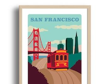 San Francisco Art Print - Home Decor - San Francisco city art - Wall Art - Museum Art Print - Giclée Art- City art print - Prints Wholesale
